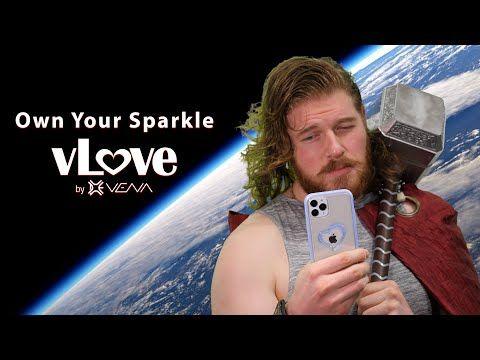 vLove iPhone 11 Pro Glitter Heart Case