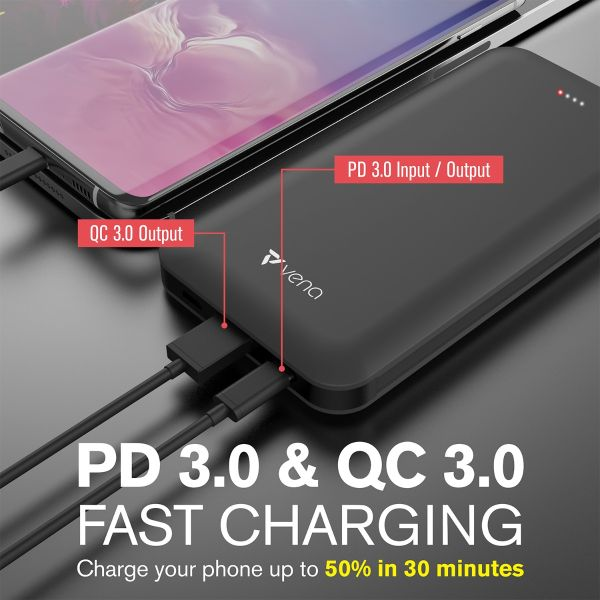 All-in-One 10,000mAh Portable Power Bank