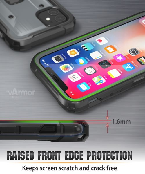 vArmor Pro iPhone 11 Full Body Case with Built-In Screen Protector