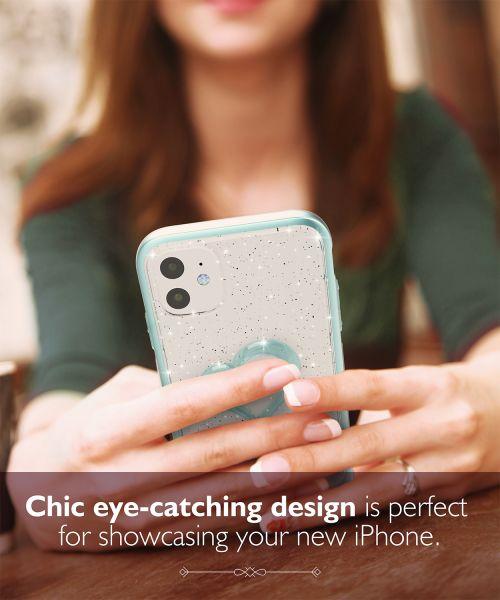 vLove iPhone 11 Glitter Heart Case