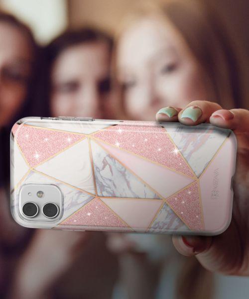 MELANGE iPhone 11 Marble Glitter Case