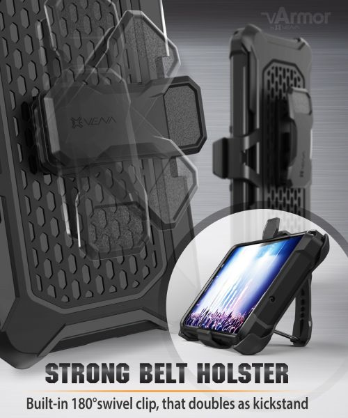 Vena vArmor Galaxy S20 Ultra Holster Case – Space Gray