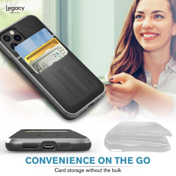 LEGACY iPhone 12 Pro Wallet Kickstand Case - Space Gray