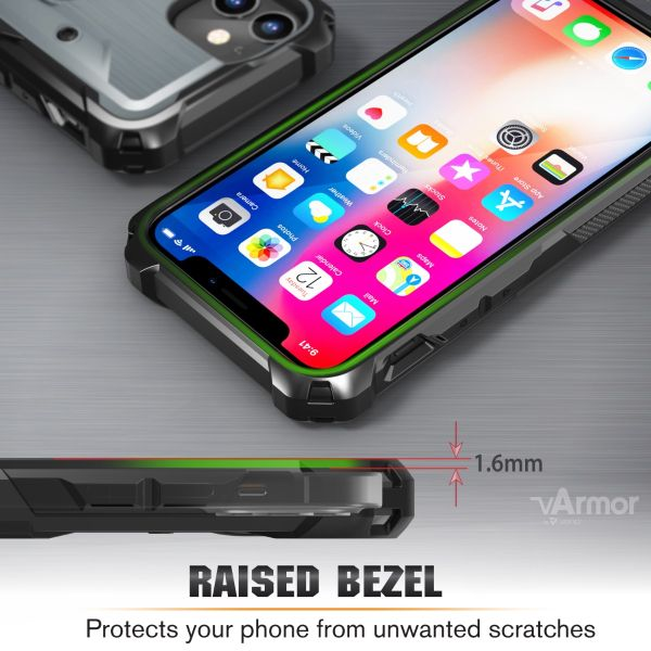 vArmor iPhone 12 Mini Holster Case - Space Gray