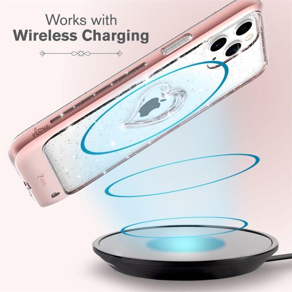 vLove iPhone 12 Pro Max Glitter Case