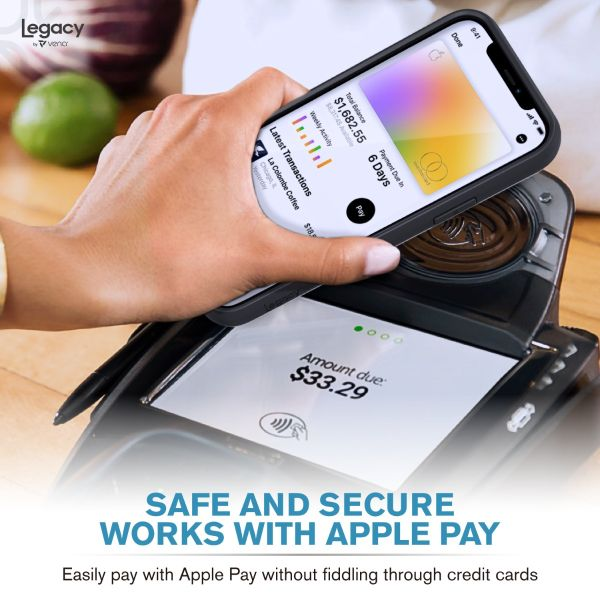 LEGACY iPhone 12 Wallet Case with RFID Blocking (MagSafe Compatible) - Space Gray
