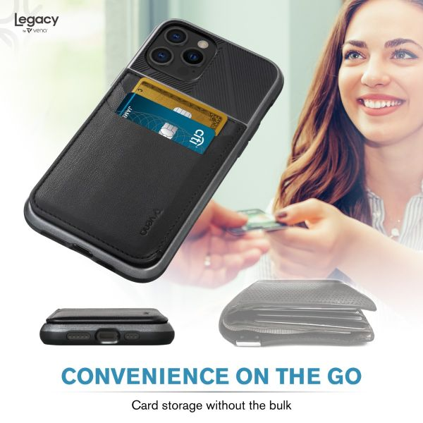 LEGACY iPhone 12 PRO Wallet Case with RFID Blocking (MagSafe Compatible) - Space Gray