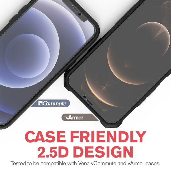 2.5D 0.3mm Silk Print Tempered Glass Screen Protector for Apple iPhone 12 (6.1