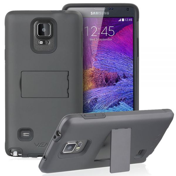 LEGACY Dual Layer (PC + Silicone) Hybrid Phone Case Cover for Samsung Galaxy Note 4 with Kickstand and Screen Protector