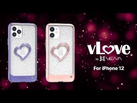 vLove iPhone 12 Pro Max Glitter Case
