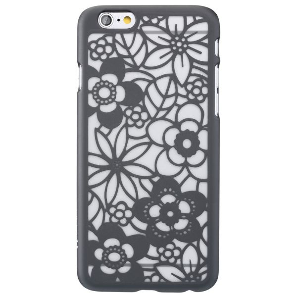 TACT Flora Design Rubber-Coated Polycarbonate Hard Case Cover for Apple iPhone 6 / 6s (4.7