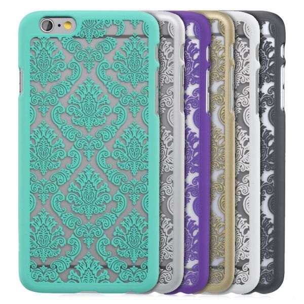 TACT Damask Design Rubber Coating Case for Apple iPhone 6 Plus / 6s Plus (5.5