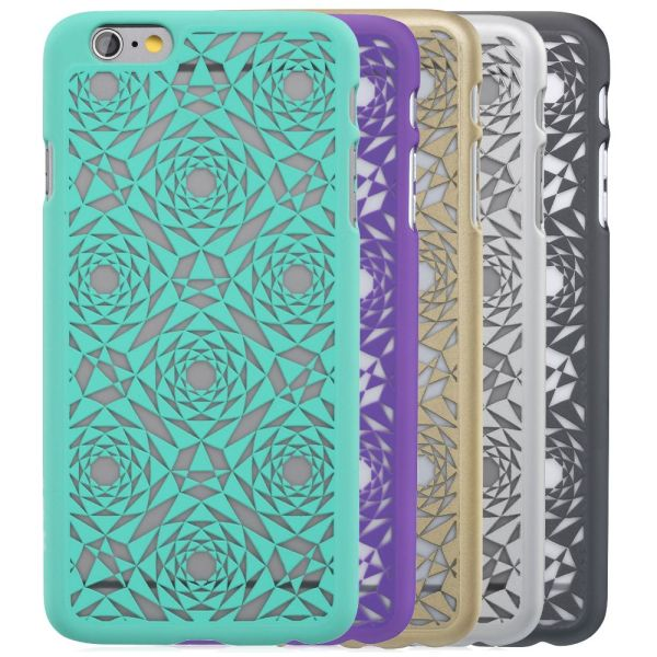 TACT Polygon Design Rubber Coating Case for Apple iPhone 6 / 6s Plus (5.5