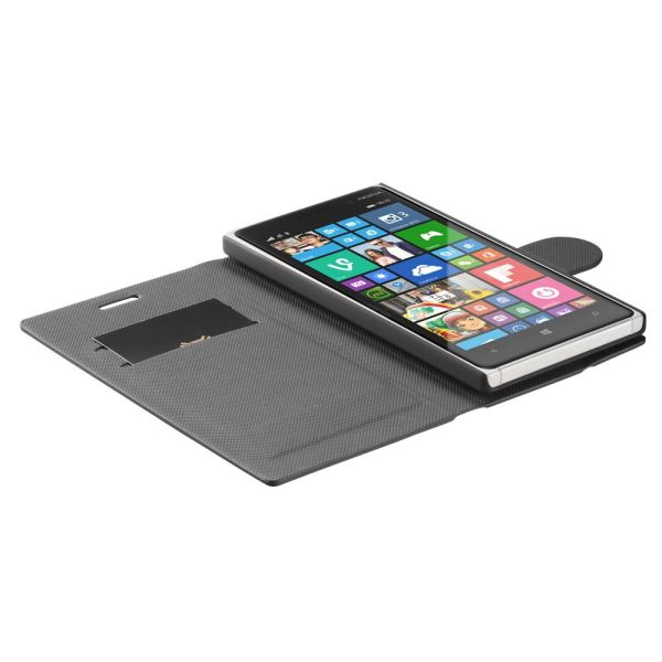 vSuit Draw Bench PU Leather Wallet Flip Stand Case with Card Pockets for Nokia Lumia 830