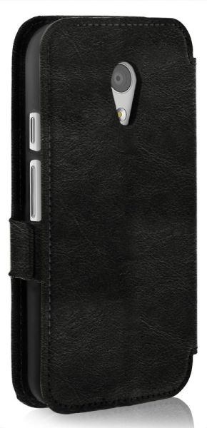 vFolio Vintage PU Leather Wallet Flip Stand Case with Card Pockets for Motorola Moto G (2nd Gen)