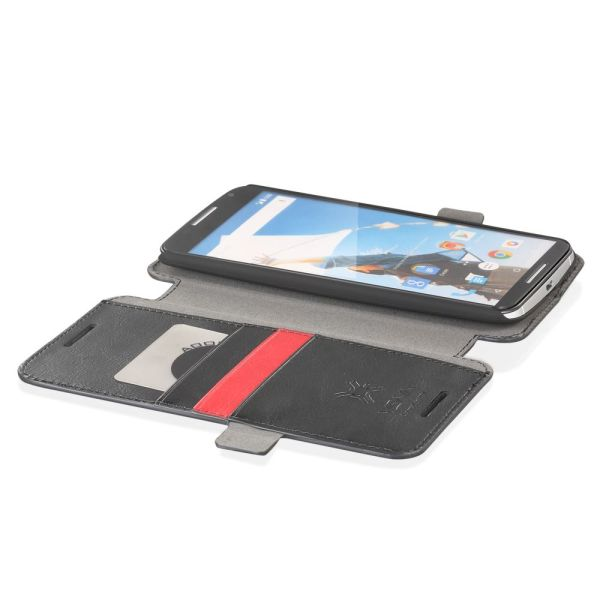 vFolio Vintage PU Leather Wallet Flip Stand Case with Card Pockets for Google Nexus 6