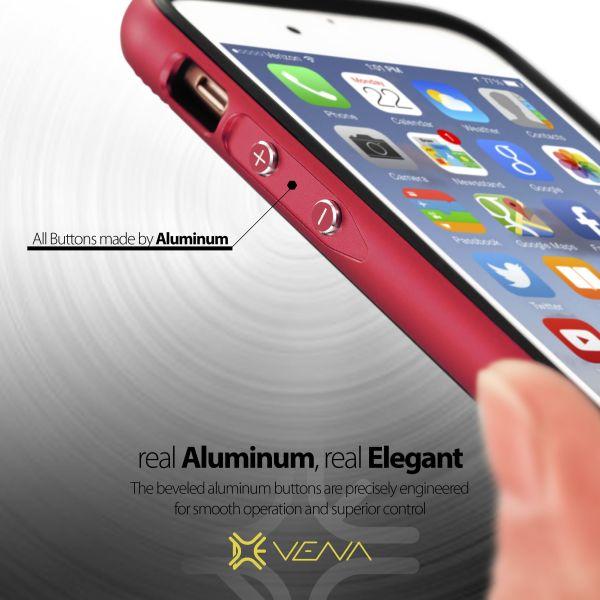vFrame Hybrid Metal Bumper Frame (Aluminum + TPU) Case for Apple iPhone 6 / 6s Plus (5.5