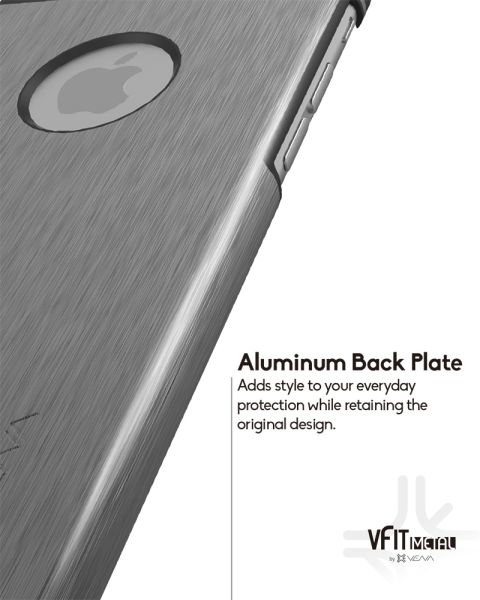 vFit Metal Brushed Aluminum and PC Slim Case for Apple iPhone 6 (4.7