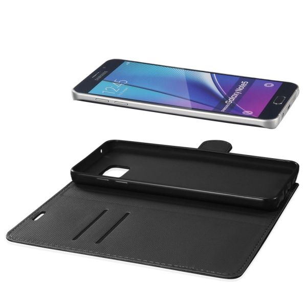 vSuit Draw Bench PU Leather Wallet Flip Stand Case with Card Pockets for Samsung Galaxy Note 5