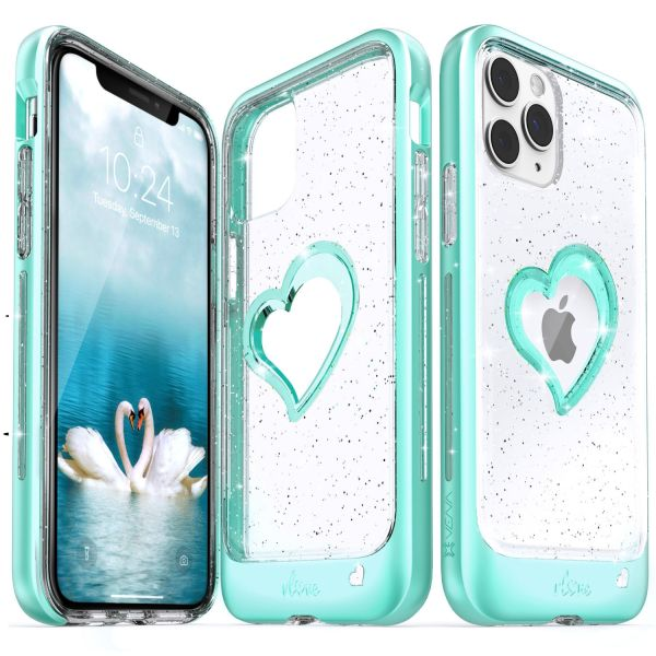 vLove iPhone 11 Pro Glitter Heart Case