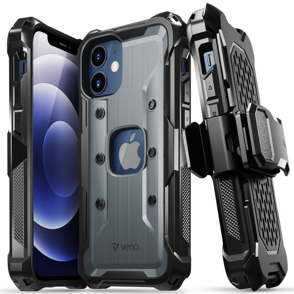 vArmor iPhone 12 Mini Holster Case - Space Gray