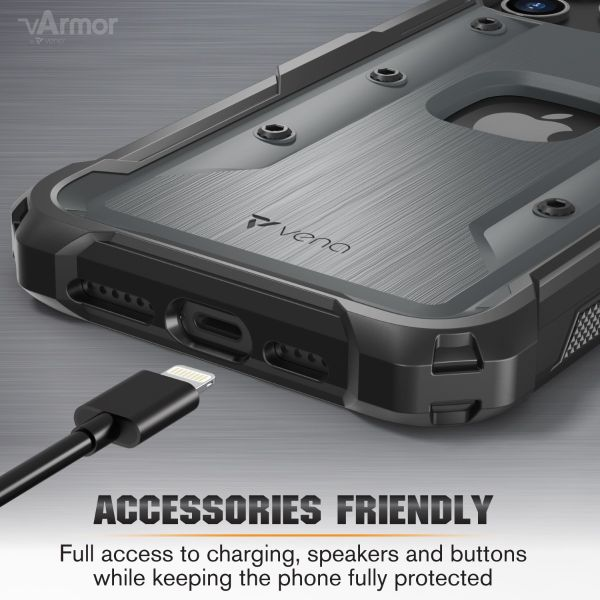 vArmor iPhone 12 Pro Max Holster Case - Space Gray