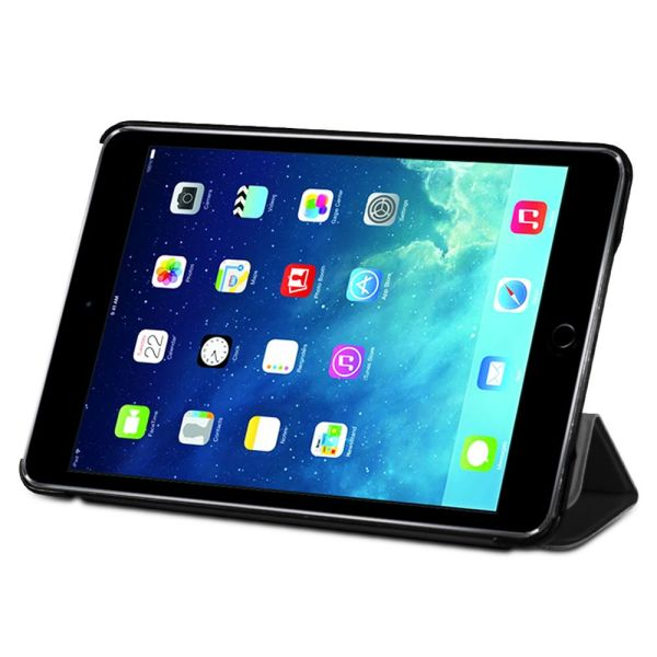 vCover PU Leather Smart Cover Slim Hard Shell Case with Sleep/Wake Function for Apple iPad Mini with Retina Display (2013) / iPad Mini 3 (2014)
